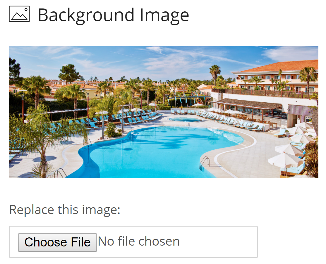 Add Photos and Text to your hotel booking engine website to make your rooms attractive to potential visitors